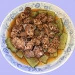 自家涼瓜(或甘筍/茄子)蒸鮮肉排